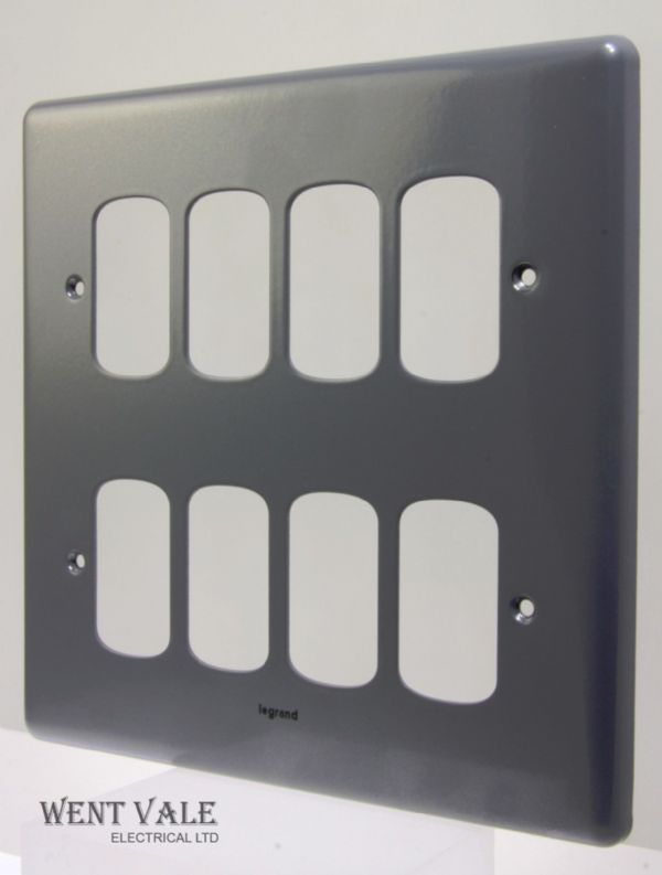 Legrand Synergy - 7339 83 - Metalclad Eight Module Switch Plate New